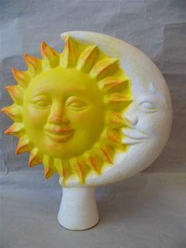 Keramická plotovka Slunce a měsíc