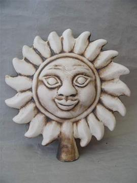 Keramický plotovka Slunce natural