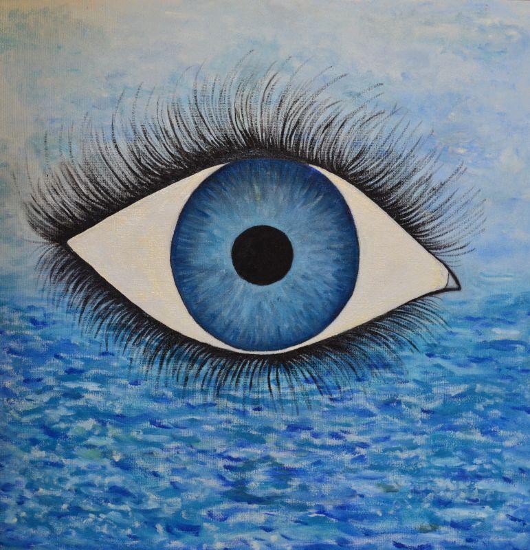 Obraz - olej Oko snění