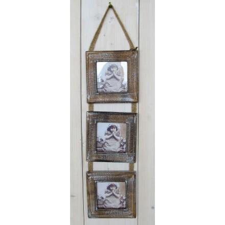 Dřevěný fotorámeček na 3 fotky