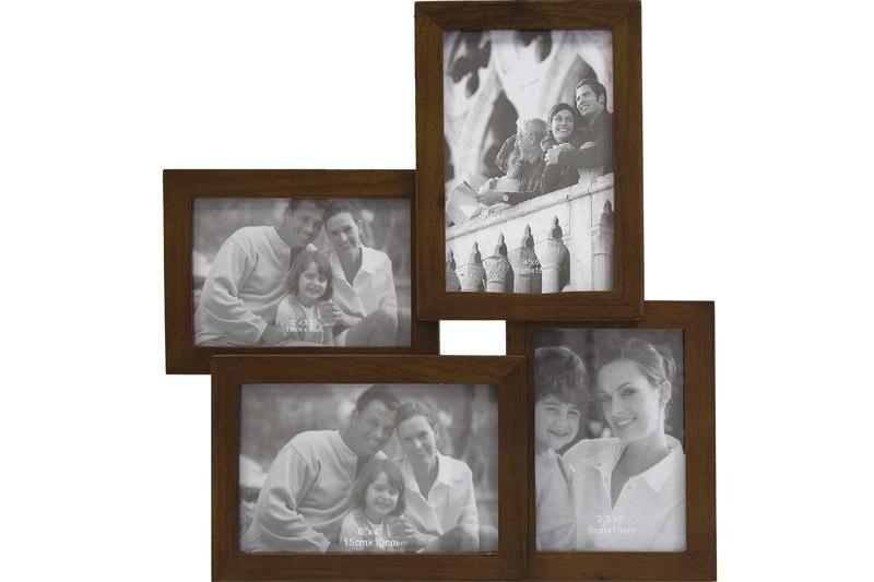 Dřevěný fotorámeček na 4 fotky