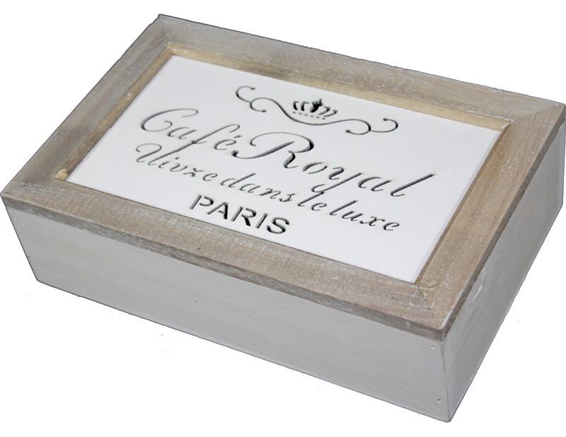 Dřevěná skříňka na café Café Royal