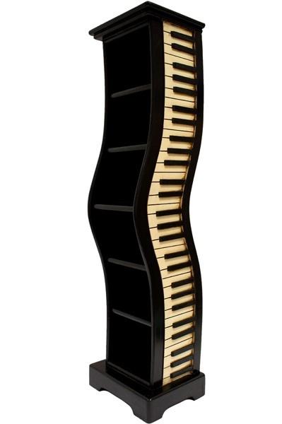 Designový stojan na CD - klavír