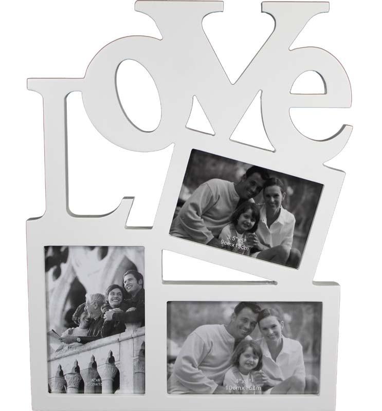 Fotorámeček na 3 fotky Love