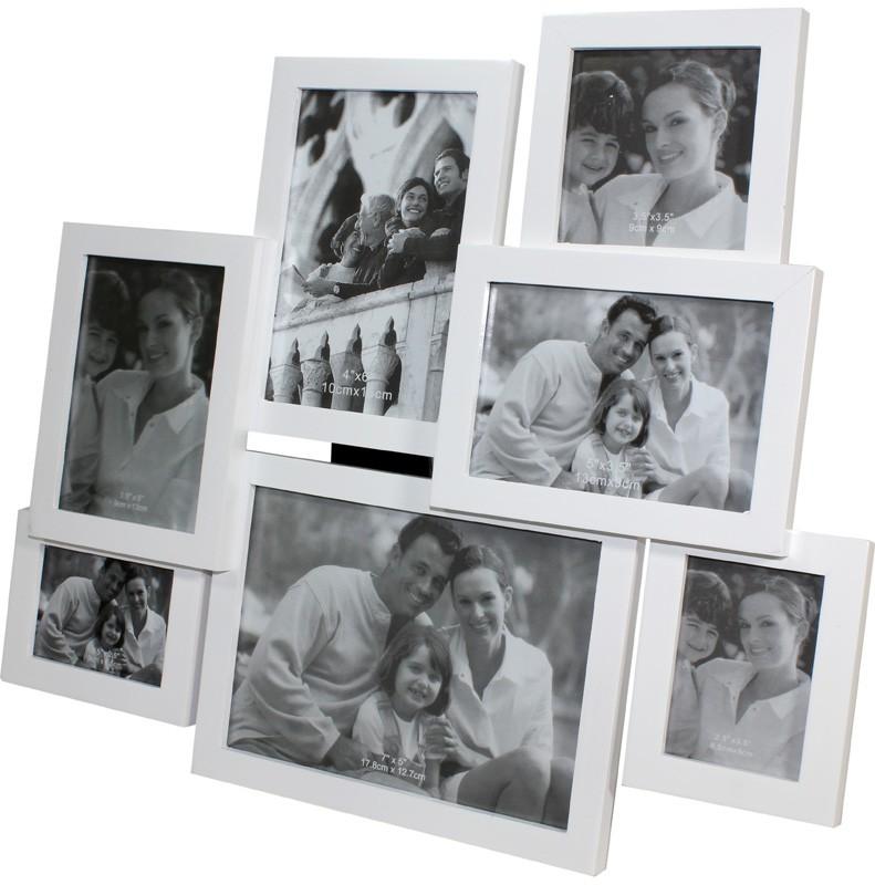 Dřevěný fotorámeček na 7 fotek