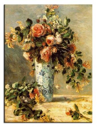 Obraz na zeď Kytice - Váza s růžemi
