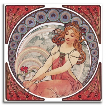 Obraz na zeď Alfons Mucha - Gladioly