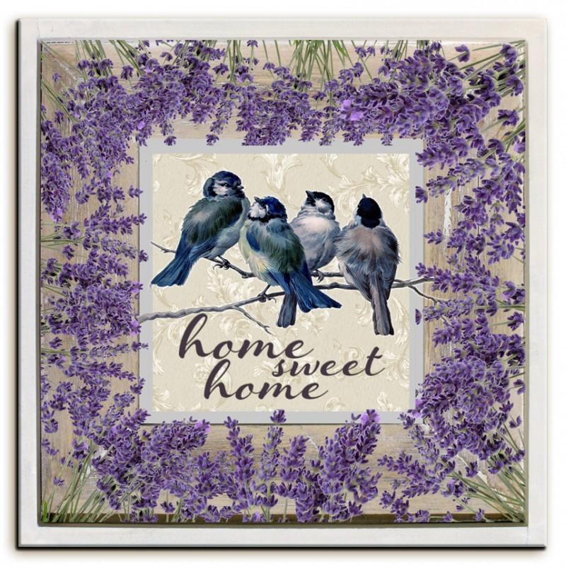 Obraz na plátně Home sweet home - Levandule