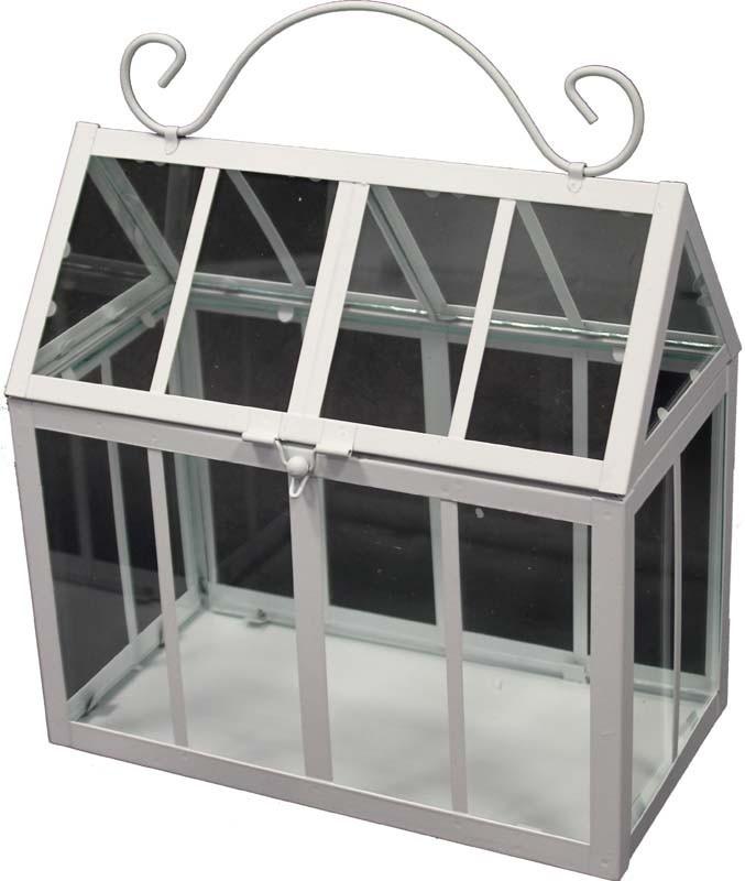 Kovový skleník - květináč