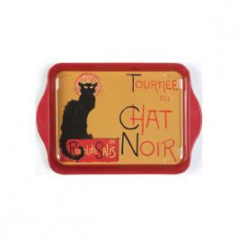 Plechový tác - Chat Noir - kočka M poškozeno