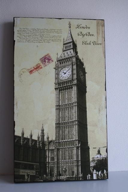 Dřevěný obraz na zeď London Big Ben