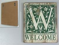 Dřevený vintage obraz Welcome
