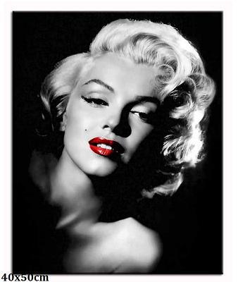 Obraz Marilyn Monroe - rudé rty