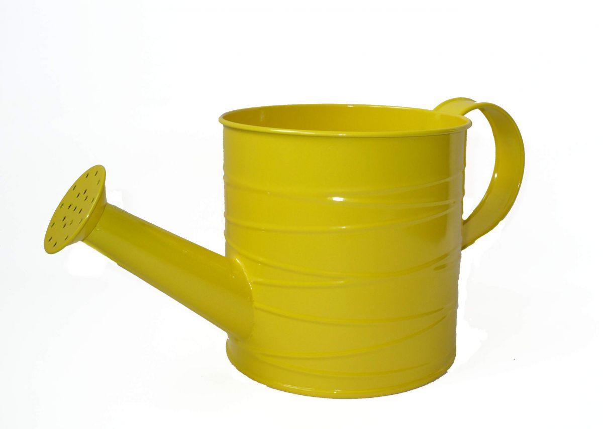 Plechová konvička žlutá M