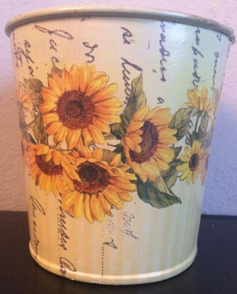 Plechový květináček Slunečnice
