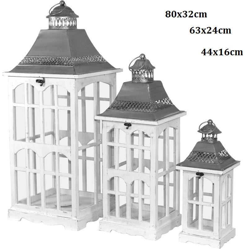 Luxusní kovové lucerny Dormen 1+1+1