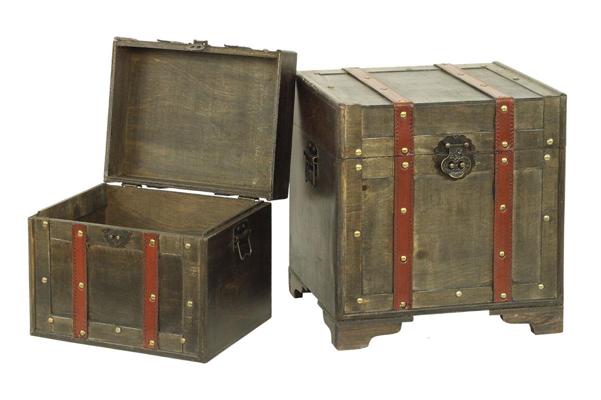 Dřevěné truhly sada Case