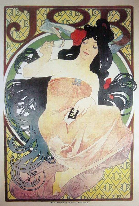 Obraz na zeď Alfons Mucha - Job 2