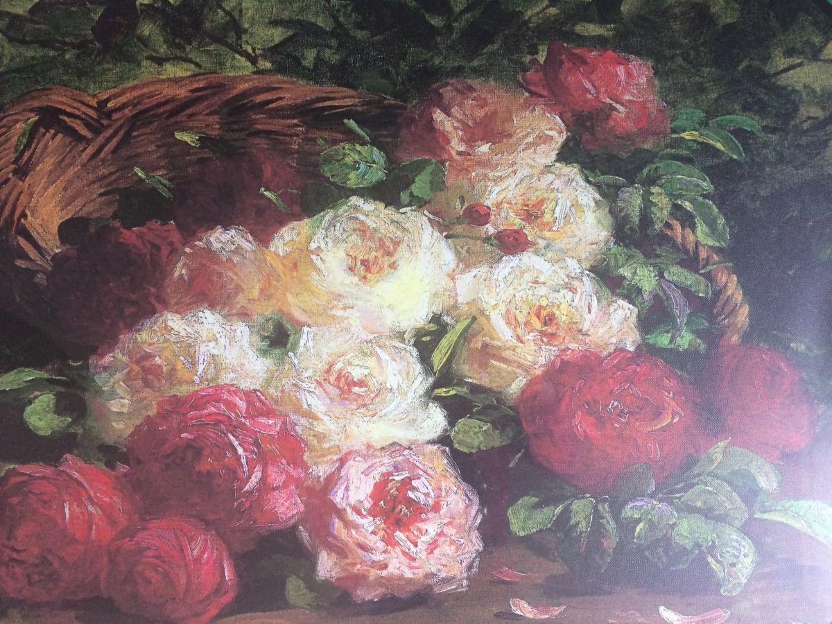 Obraz na zeď Kytice - Růže v košíku