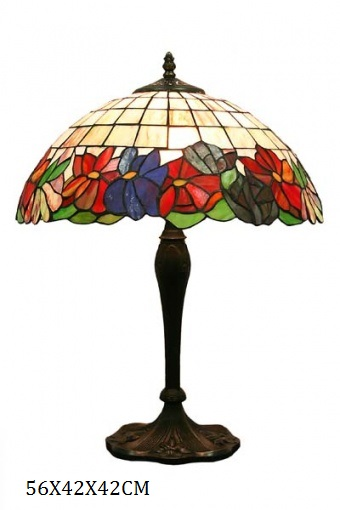 Stolní vitrážová lampa styl Tiffany Jiřiny