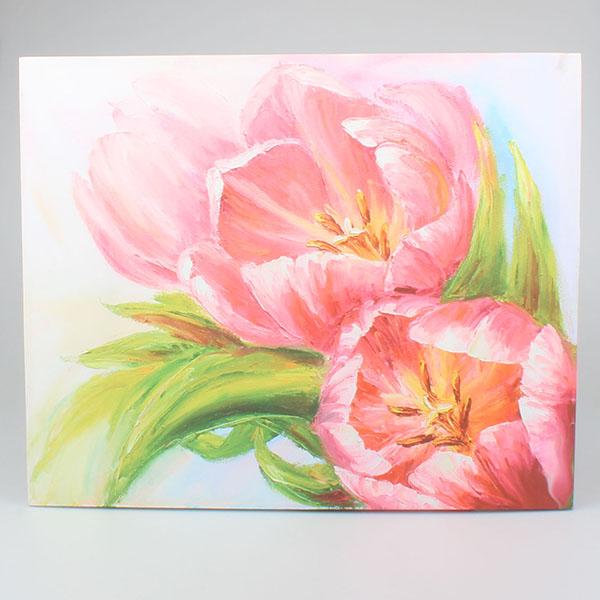 Obraz Tulipány růžový Duo