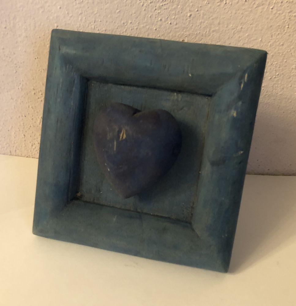 Dřevěný rámeček srdce - poškozeno