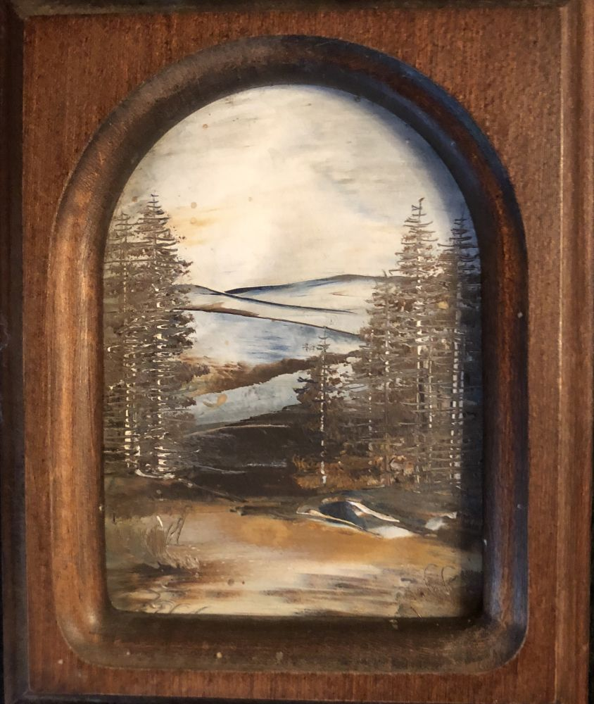 Obraz ve dřevěném rámu Jeseníky Josef Žoch