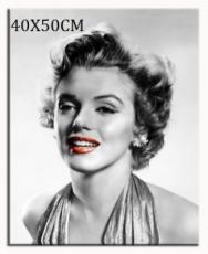 Obraz Marilyn Monroe - rudé rty úsměv šaty