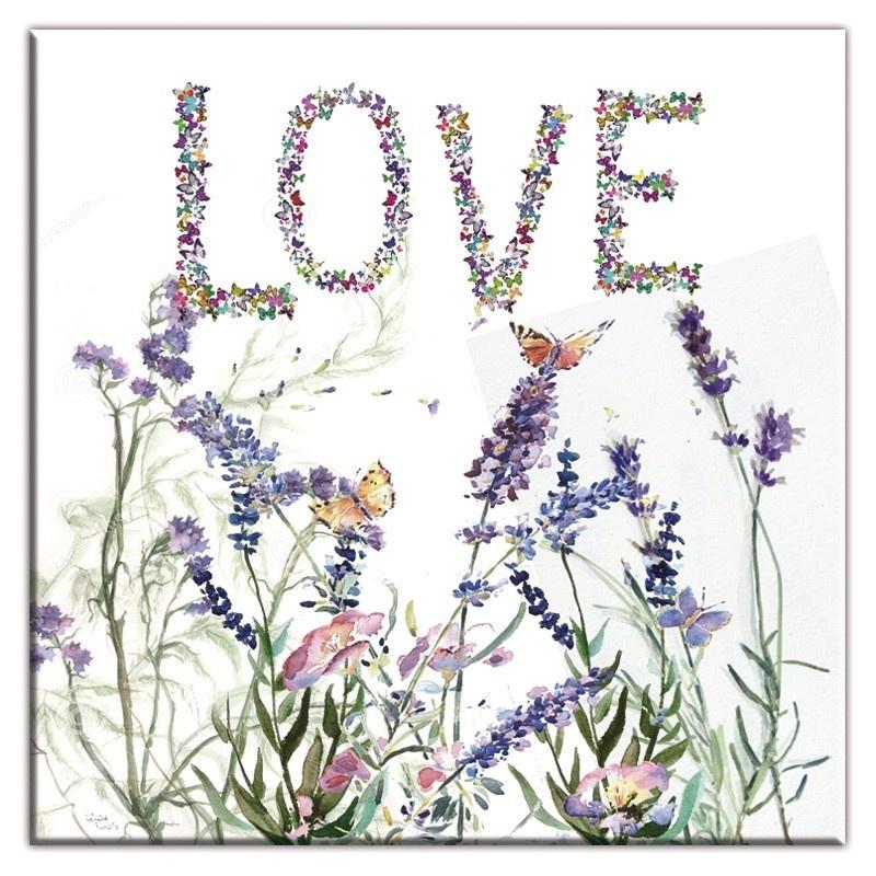 Obraz na plátně Love - Levandule