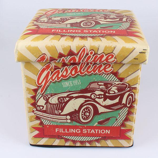 Čalouněný skládací taburet Garage Gasoline žlutý