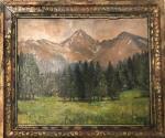 Obraz v původním rámu Vysoké Tatry